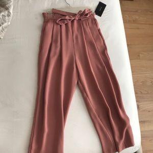 Zara wide Leg Peach/mauve flowy pants